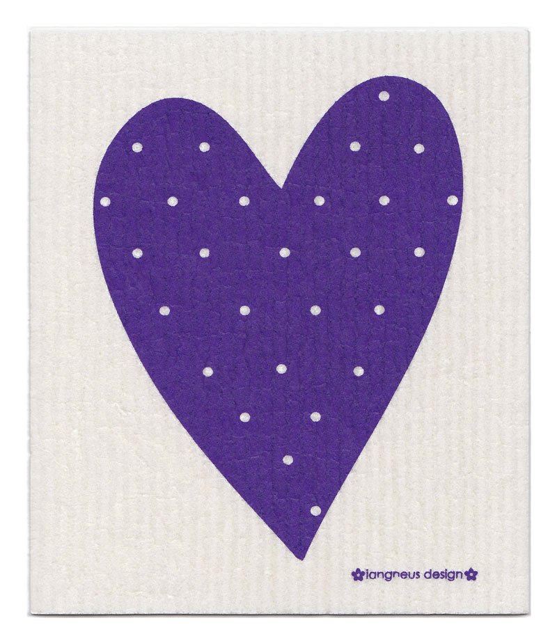 Purple heart dishcloth