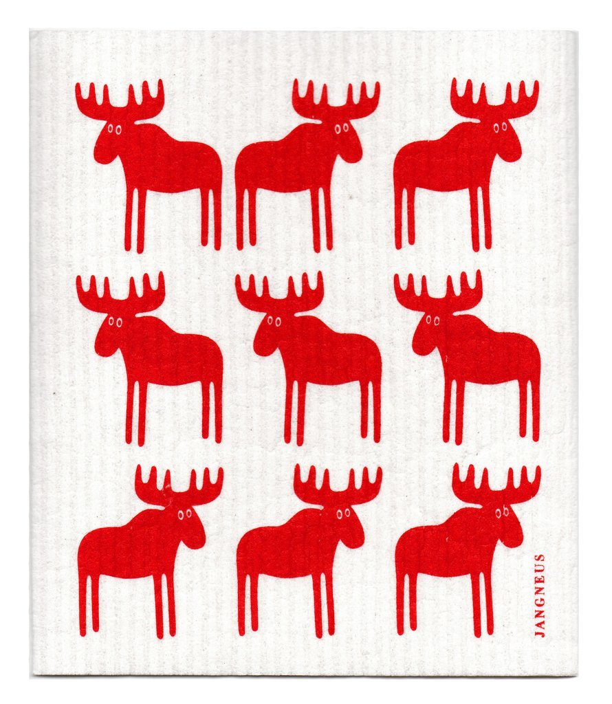 Red Moose Dishcloth
